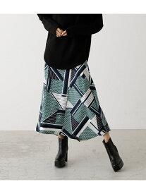 AZUL by moussy SCARF PATTERN SKIRT/スカーフパターンスカート アズールバイマウジー スカート スカートその他 グリーン ブラウン【送料無料】