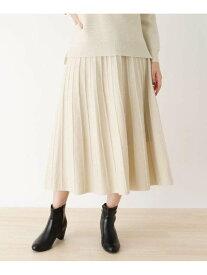 【SALE/44%OFF】SHOO・LA・RUE 【M-L/洗濯機で洗える】ラメ混ニットスカート シューラルー スカート ロングスカート ホワイト グレー ブラウン ピンク