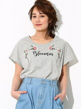 UV加工花刺繍Tシャツ