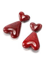 W HEARTS EARRINGS