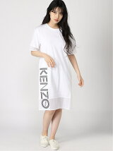 (W)Kenzo Sport Mesh Mix Soft Tee Dress