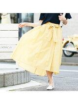 【WEB限定】ウエストリボンフレアスカート【予約】