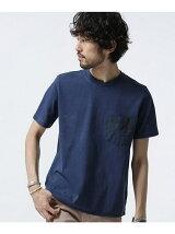 //異素材PKピグメントTシャツ