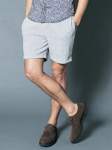 T/C SOFT PILE SHIRRING SHORTS