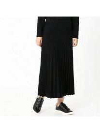 【SALE/60%OFF】COMME CA ISM ニットプリーツスカート コムサイズム スカート ロングスカート ブラック グレー グリーン
