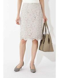 NATURAL BEAUTY BASIC スカラレースタイトスカート ナチュラルビューティベーシック スカート【送料無料】