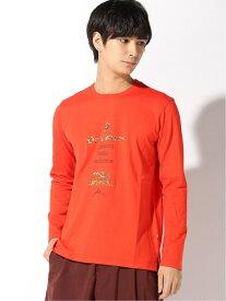 Orobianco Orobianco/ロゴ刺繍天竺長袖Tシャツ フレイ カットソー Tシャツ オレンジ ネイビー ホワイト【送料無料】