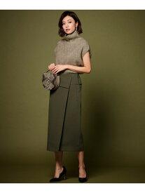 ICB L 【mi-molletコラボ】CompactDoubleClothスカート アイシービー スカート スカートその他 カーキ ブラック グレー【送料無料】
