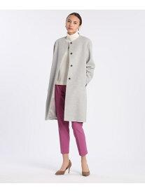 【SALE/19%OFF】INED ノーカラーコート《Super110's Wool》 イネド コート/ジャケット ロングコート グレー ピンク ネイビー【送料無料】