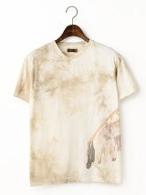 ムラ染ボウ&アローインクジェットTシャツ