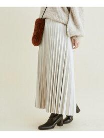 【SALE/50%OFF】ViS エコレザープリーツスカート ビス スカート スカートその他 グレー ブラック ブラウン