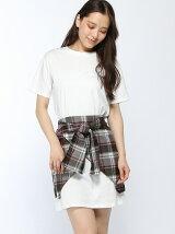 ANAPチェック巻きスカート×Tシャツセットアップ