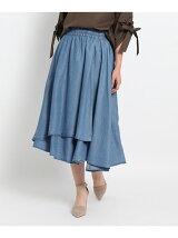 リヨセルデニム風スカート