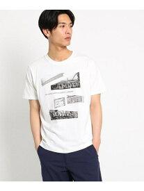 【SALE/40%OFF】THE SHOP TK フォトプリントTシャツ ザ ショップ ティーケー カットソー Tシャツ ホワイト ベージュ ピンク ブルー