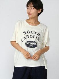 Samansa Mos2 ロゴプリントラグランスリーブTシャツ サマンサモスモス カットソー