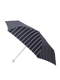 【SALE/50%OFF】ViS 【紫外線防止加工】LADY STRIPES mini アンブレラ ビス ファッショングッズ 日傘/折りたたみ傘 レッド ネイビー