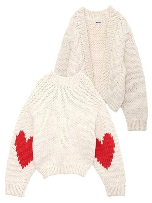 HEART KNIT CARDIGAN