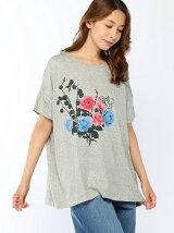 ローズブーケモチーフプリントビックTシャツ