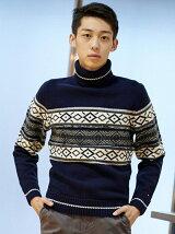 (M)タートルネックセーター