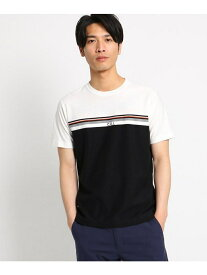 【SALE/40%OFF】THE SHOP TK ジャガードマルチボーダーTシャツ ザ ショップ ティーケー カットソー Tシャツ ホワイト グレー ベージュ ブルー