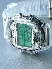 BEAMS MEN TIMEX × BEAMS / 別注 Classics Digital スケルトン デジタル ウォッチ タイメックス ビームス 限定 コラボ クラシックデジタル クリア 腕時計 プレゼント ギ【先行予約】*【送料無料】