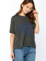 ローズブーケモチーフステッチ刺繍Tシャツ