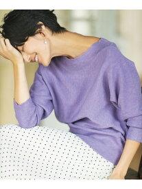 any FAM 【定番人気】NEW YEAR ニット エニィファム ニット 半袖ニット パープル ホワイト グレー ブラック ピンク オレンジ ブラウン グリーン ブルー