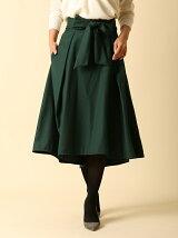 《ef-de》ウエストリボンフィッシュテールスカート