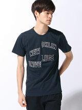 (M)カレッジ切り替えリメイクTシャツ
