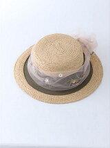 フラワーチュールカンカン帽