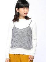 C・チェックキャミ+長袖Tシャツ/SET