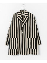 unfil striped cotton dobby Jacket