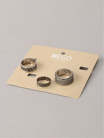 【SALE/10%OFF】WEGO (M)SETリング ウィゴー アクセサリー リング シルバー ブラック ゴールド