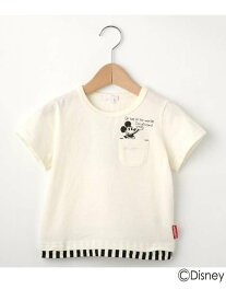 【SALE/19%OFF】SHOO・LA・RUE/Kids 【Disney】ミッキーマウスデザインポケットTシャツ シューラルー カットソー【RBA_S】【RBA_E】