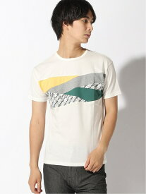 【SALE/40%OFF】HALB HALB/(M)フラッグ切替Tシャツ テットオム カットソー Tシャツ ホワイト【送料無料】