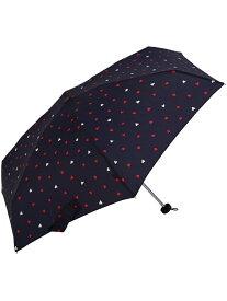 nifty colors ブロウハート5段ミニ ニフティカラーズ ファッショングッズ 日傘/折りたたみ傘 ネイビー ピンク
