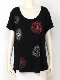 【SALE/30%OFF】Desigual Tシャツショート袖 デシグアル カットソー Tシャツ ブラック ブルー ホワイト【送料無料】