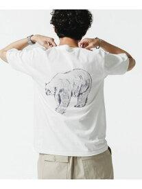 nano・universe WWF ANIMAL Tシャツ 半袖 1 ナノユニバース カットソー Tシャツ ホワイト ブラック ベージュ カーキ【送料無料】
