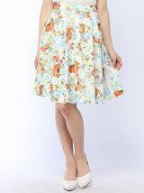 花柄ニー丈スカート