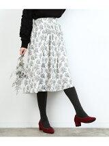 【maegamimami×ROPE' PICNIC】記憶のブーケ ギャザースカート
