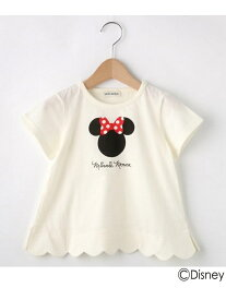 【SALE/20%OFF】SHOO・LA・RUE/Kids 【Disney】ミニーマウススデザインカラップTシャツ シューラルー カットソー【RBA_S】【RBA_E】