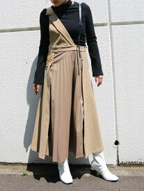 AULA AILA フロントプリーツ ジャンパースカート アウラアイラ スカート【送料無料】