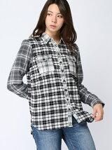 (W)Hilfiger Denim/コットントネルチェックシャツ