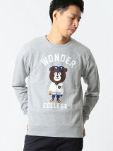 【SPECIAL PRICE】The Wonderful! design works. / IVY BEAR クルーネック スウェット