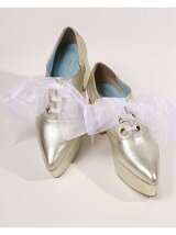 ribbon oxford shoes Organdy(White)