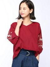 C・袖刺繍ビーチV/N BL