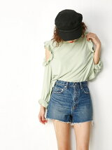 FRILL OPEN SHOULDER TOPS
