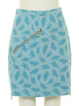 ornamental zip skirt