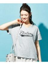ペイズリー&ロゴTシャツ