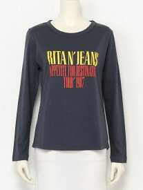 【SALE/40%OFF】RITA JEANS TOKYO LONG SLEEVE CUT&SEWN リュビショコラ カットソー Uネックカットソー グレー【送料無料】